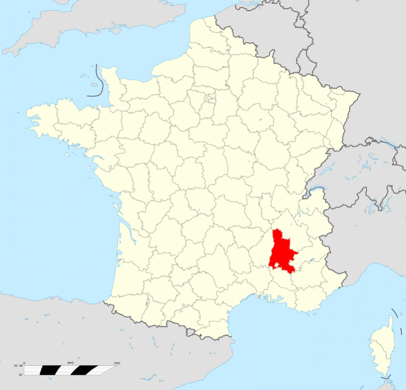 Lage des Departements; Quelle: Wikipedia