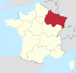 Lage der Region Grand-Est; Quelle: wikipedia